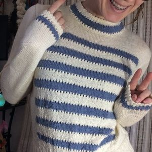 Vintage Sweaters - Hugs You Striped Vintage Soft Sweater